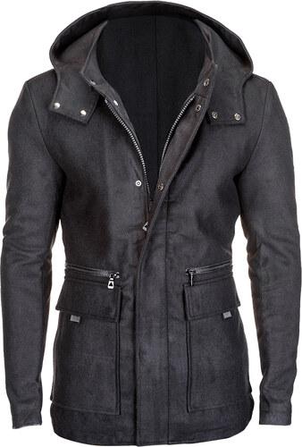 Nature Férfi téli kabát kapucnival Morgan fekete - Glami.hu 8abcebb6b5