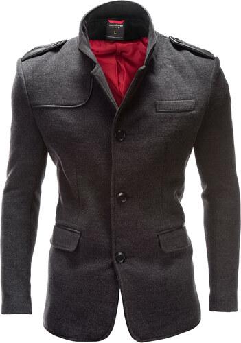 Ombre Clothing Pánsky kabát Augustino šedý - Glami.sk 7a56bc9dfdc