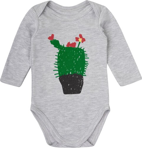 Garnamama Dětské body s kaktusem POP ART - šedé - Glami.cz 74d8858340