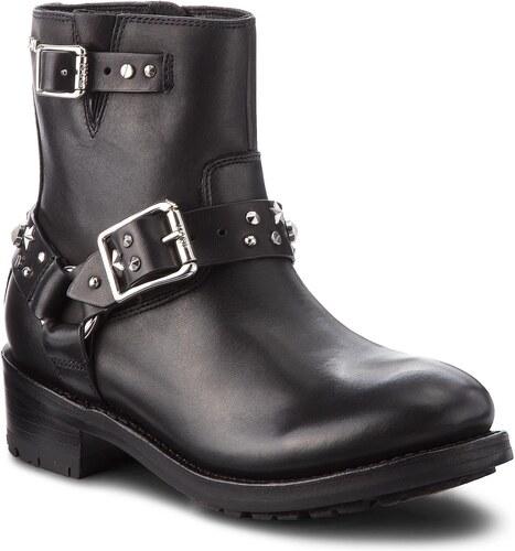 7c95de6b869 Členková obuv KARL LAGERFELD - KL41066 Black Lthr W Silver - Glami.sk