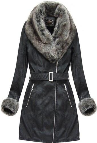 The SHE Čierny dámsky zimný kabát s kožušinou - Glami.sk e8d60c466f9