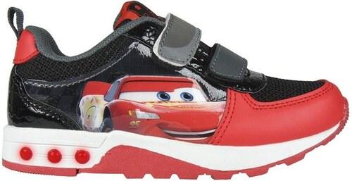 Disney Brand Chlapčenské svietiace tenisky Cars - čierno-červené ... 67e24d7d12e