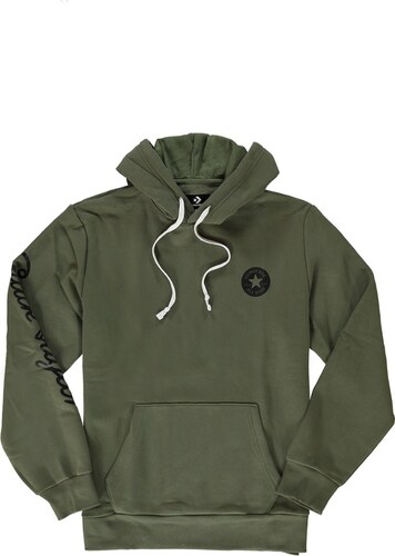 Converse Pánska zelená mikina Chuck Taylor Graphic Pullover Hoodie ... ee5858a0ac