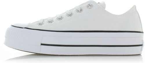 1566494d5f7 Converse Dámské bílé nízké tenisky Chuck Taylor All Star Lift - Glami.cz
