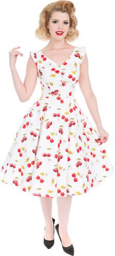 908163804c22 Dedoles Bílé retro pin up šaty Třešně 6XL - Glami.cz