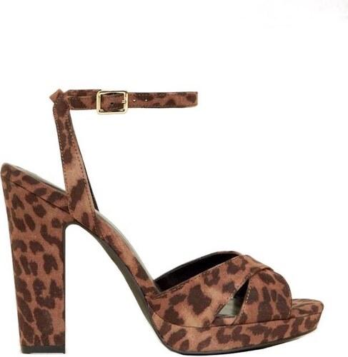 NEW LOOK Leopardí sandály na podpatku - Glami.cz 888a8b4ed6