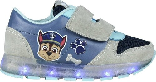 22edc9d379d1 Disney Brand Chlapčenské svietiace tenisky Paw Patrol - šedo-modré ...