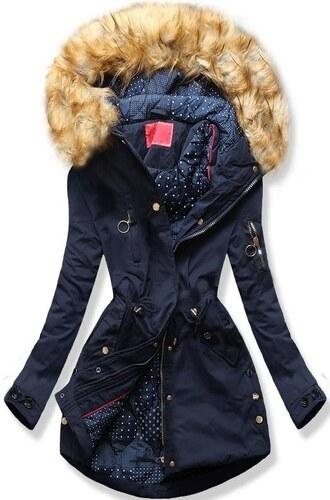 MODOVO Női téli kabát kapucnival Q32 sötétkék - Glami.hu 1a7d4a5ff8