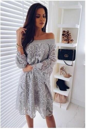 Trendovo Sivé čipkované šaty - Glami.sk 108844d18c8