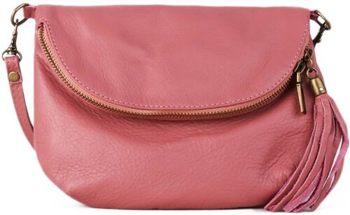30f250ba535 ITALSKÉ Malé kožené kabelky růžové Zeta - Glami.cz