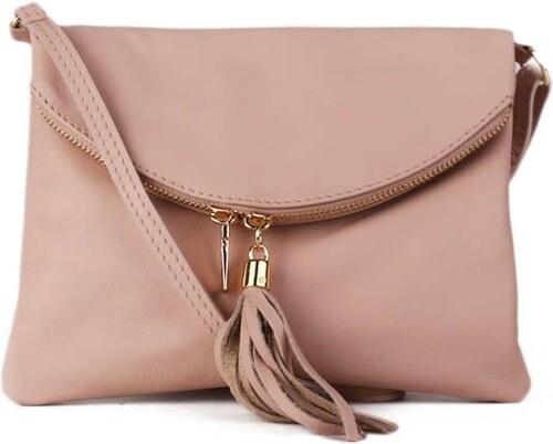 1fd29bb63b7 ITALSKÉ Malé italské levné kožené kabelky korzika jemně růžové ...
