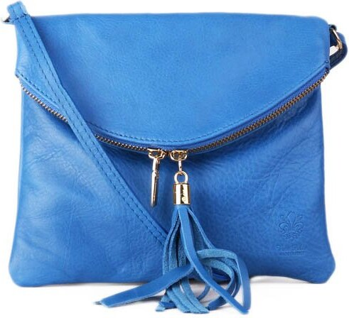 ITALSKÉ Malé modré Italské kožené kabelky levné Korzika b13de3abe6
