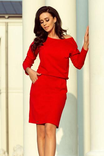 da494805af1c NUMOCO Červené šaty s voľnými ramenami 189-4 - Glami.sk