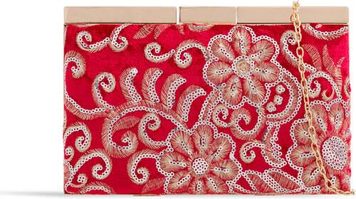 ikabelky Vyšívaná listová kabelka K-J2352 červená - Glami.sk 73b6340cef0