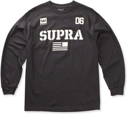 6332afd11616 Pánske čierne tričko s dlhým rukávom Supra Team USA - Glami.sk
