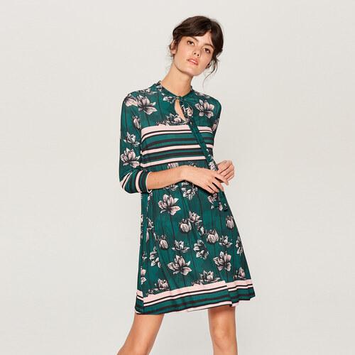 Mohito - Květované šaty - Tyrkysová - Glami.cz ee57d0b0b6e