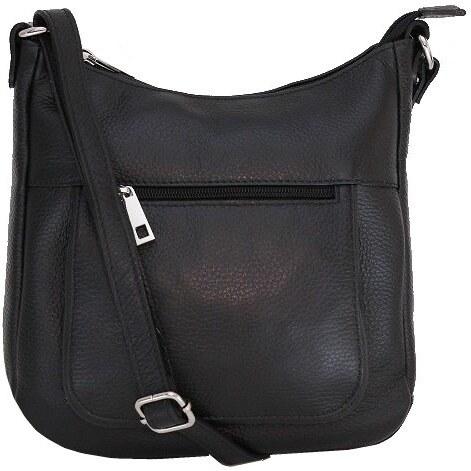 ea8b7d5b77 Talianske kožené kabelky dámske cez rameno stredné čierne Zolana ...