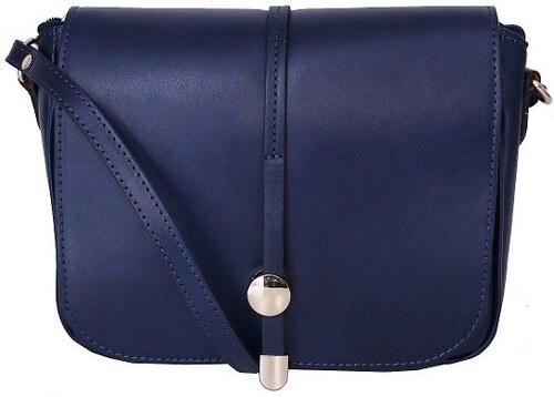 -9% TALIANSKE Talianska kožená kabelka crossbody stredne veľká Talianska  modrá Aurelia ad37346f336