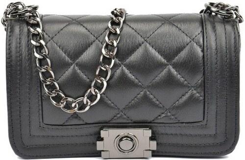 Čierna kožená kabelka Isabella Rhea Chica Nero - Glami.sk f1e3e3d9497