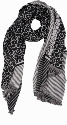 Calvin Klein černo-bílá oboustranná šála CK Blanket - Glami.cz 51f60d7b83