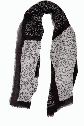Calvin Klein černo-bílý šátek CK Allover Check Scarf - Glami.cz b010b9b2b8