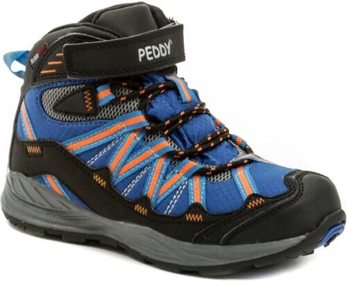 22974e33e730a Peddy PV-509-27-03 modro oranžové členkové zimné topánky - Glami.sk