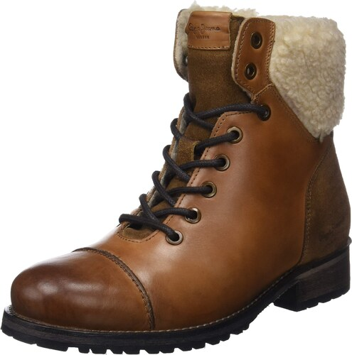 Pepe Jeans London Melting Warm, Botines Femme, Marron (Nut Brown 877), 36 EU 212bd36de34a