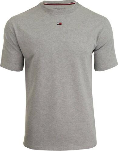Tommy Hilfiger svetlo sivé pánske tričko CN Tee SS Logo - Glami.sk ec7054e1447