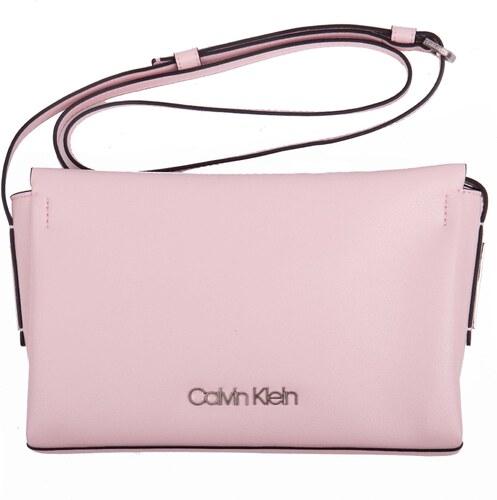 735b5fb44b Calvin Klein pudrová kabelka Frame Ew Crossbody - Glami.cz