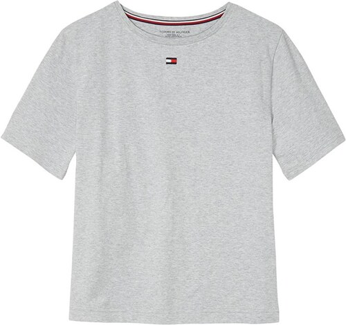 Tommy Hilfiger svetlo sivé oversize tričko BN TEE HALF - Glami.sk 9182f68f110