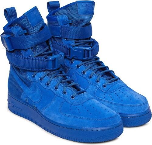 Pánske kotníkové modré tenisky NIKE SF AIR FORCE 1 HI BOOT GAME ROYAL c9f23a168af