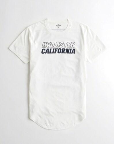 Pánské tričko Hollister - bílé oboustranné - Glami.cz dc3f93a10d