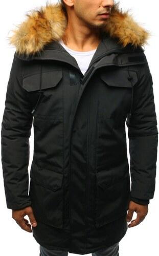 Manstyle Férfi téli kabát antracit kabát - Glami.hu d740cb14a0