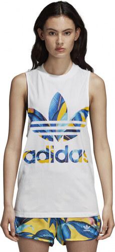 fd8354603175 Dámske tielko adidas Originals TANK TOP (Biela) - Glami.sk