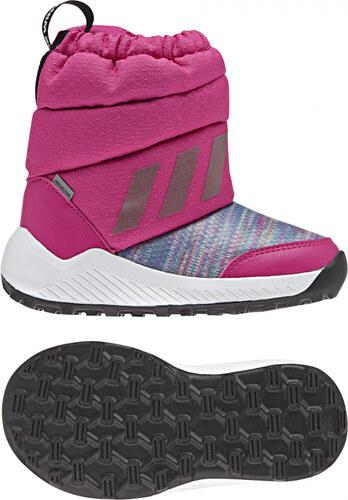 -40% Detské zimné topánky adidas Performance RapidaSnow BTW I (Burgundy    Biela) e70c6461c0c