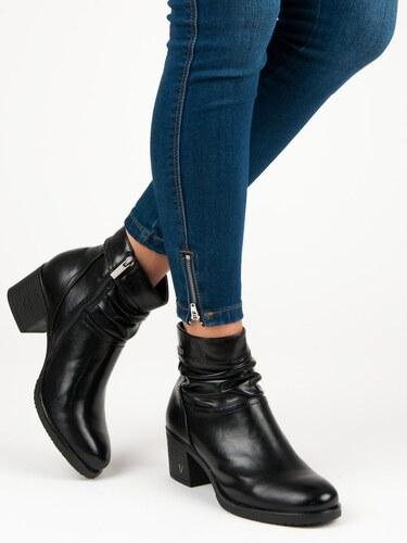 VINCEZA Čierne členkové topánky na podpätku - Glami.sk aac7387ce1f