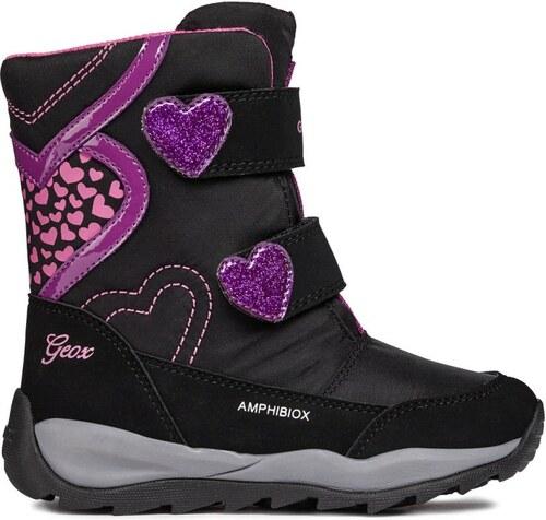 431a6589866c Geox Dievčenské zimné topánky Orizont - čierne - Glami.sk