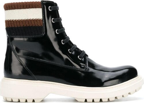 Geox varnished lace-up boots - Black - Glami.sk eeb3d0c2031