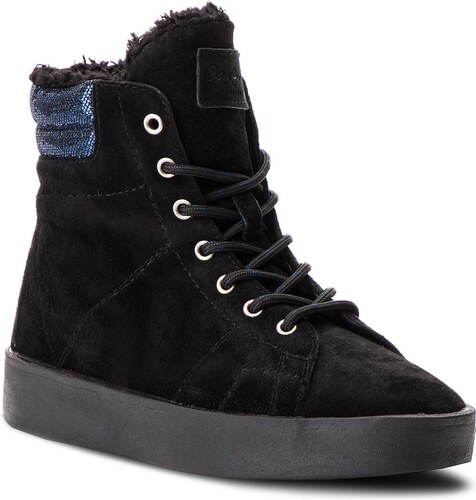 9046375b57 Členková obuv PEPE JEANS - Brixton Goose PLS30774 Black 999 - Glami.sk