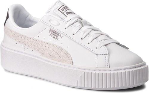 3d2ba1ecb2b Sneakersy PUMA - Basket Platform Euphoria Metal 367850 01 Puma White Puma  Aged Silver