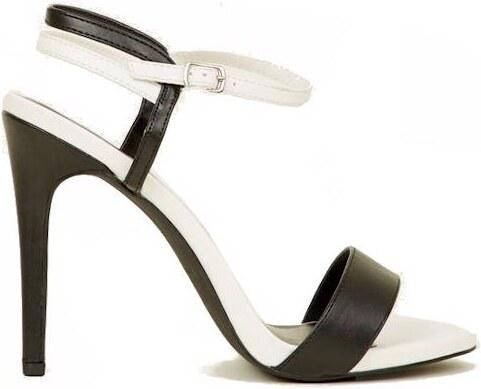 NEW LOOK Monochromatické páskové sandály na podpatku - Glami.cz 60e8c5683d