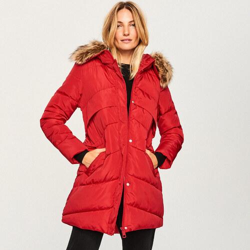Reserved - Steppelt kapucnis kabát - Piros - Glami.hu f9bde394f6