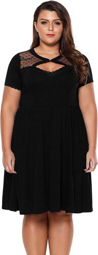 ZAZZA Čierne šaty nad kolená s krátkym rukávom - Glami.sk 3ee6b69da13