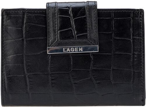 Lagen Dámska čierna kožená peňaženka Black 61174-1 - Glami.sk 9bf7618df34