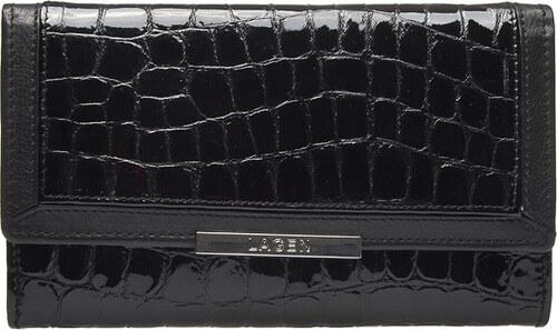 Lagen Dámska čierna kožená peňaženka Black 614811 - Glami.sk 95a6b0d85e1
