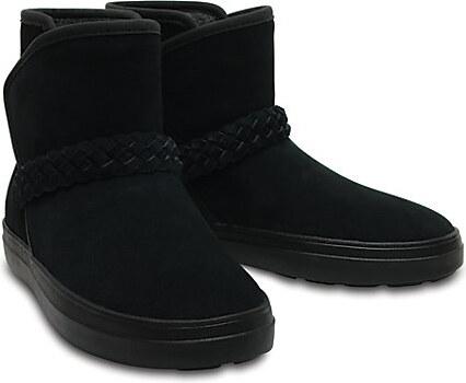 Crocs Dámské zimní boty LodgePoint Suede Bootie W Black 204798-001 ... 7abb1b2777
