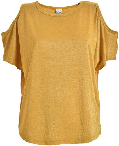 Deha Dámske tričko Cold-Shoulder Top D73050 Curcuma Yellow - Glami.sk c55d9c063d