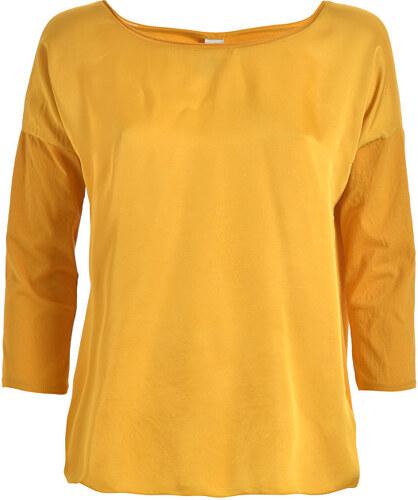 89fe06d04e28 Deha Dámské triko 3 4 Sleeve Lenght Top D73070 Curcuma Yellow - Glami.cz