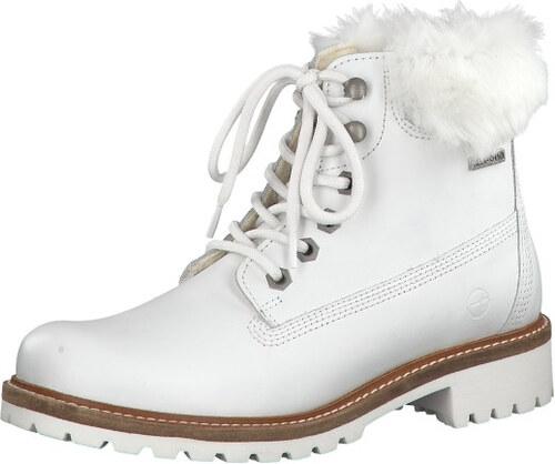 f8be435efb61 Tamaris Dámske členkové topánky 1-1-26294-21-130 White Fur - Glami.sk