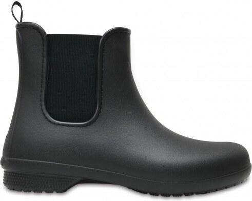 1ad57efde9 Crocs Dámske gumáky Crocs Freesail Chelsea Boot W Black Black 204630 ...